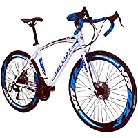 Helliot Bikes Sport 02 Bicicleta de Carretera, Unisex Adulto, Blanca/Azul, M-L