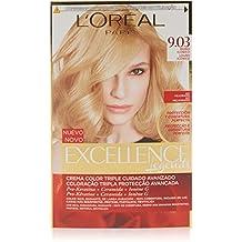 L'Oréal Paris Excellence Coloración Crème Triple Protección, Tono: Rubios de Leyenda 9.03 Rubio Glamuroso