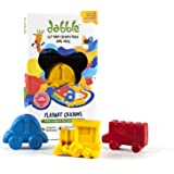 Dabble Non-Toxic Organic Beeswax Crayons in 3 Fun Chunky Transport Shapes for Children to Inspire Safe Play and Fun Art time