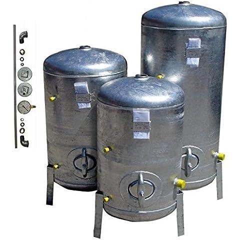 Impresión Depósito 100L 9Bar Vertical con accesorios galvanizado Caldera galvanizado para casa de agua
