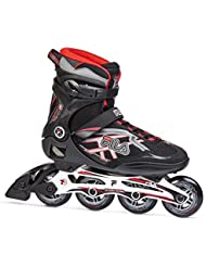 FILA® ARGON 84 Patines en Línea | Mujer | Hombre | Inline Skates | Cuchillas ABEC7 | Tamaños 38.5-44 | Ruedas 84 mm, Fila Größe:43, Fila Farbe:Black / Red