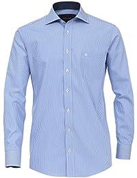 d9574e36ad17 CASA Moda - Comfort Fit - Bügelfreies Herren Business Hemd mit Haifisch  Kragen, Gestreift (