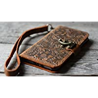handgemachte echtes Leder-Mappenkasten für iphone 7 / 8 Plus Flip-Cover Flip Case mit Kreditkarte -Schlitz mit iphone 7/ 8 iphone x iPhone 8 Plus Lederhülle / iPhone 7 Plus Lederhülle Leder Case