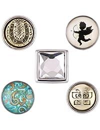 Morella señorías Click-Button Set small 5 pcs botones 12 mm diámetro sodasteam cristal look suerte y estampado diseño