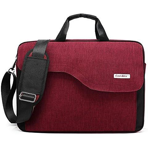 Coolbell (TM) 15,6bolsa de ordenador portátil de nailon bolsa de hombro con correa multicompartment Messenger bolso de mano maletín para tablet ipad Pro/Laptop/MacBook/Ultrabook/Hombre/Mujer/College