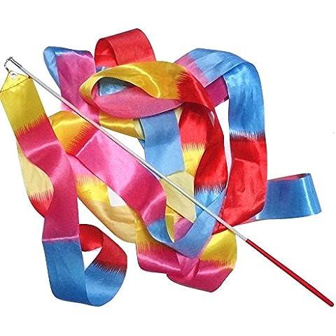BEETEST 4m La mancha girando a gimnasio de danza arte cinta gimnasia rítmica Streamer con varita de palo