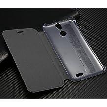 PREVOA Vernee Thor Funda - Flip PU Funda Cover Case < caso duro adentro > Protictive Carcasa para Vernee Thor 4G LTE Smartphone - Negro