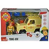 Sam El Bombero - Auto 4 x 4 de Tom con figura (Simba Dickie 9251001)