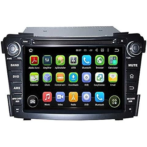 2 Din 7 pulgadas Coche Estéreo con GPS Navegación Android 5.1.1 Lollipop OS para Hyundai I40 2011 2012 2013 2014,Pantalla Táctil Capacitiva con 1.6G de la Cortex A9 Quad Core CPU 16G y 1G DDR3 RAM Flash 1024x600 Radio DVD 3G/WIFI OBD2 Aux Entrada USB/SD DVR