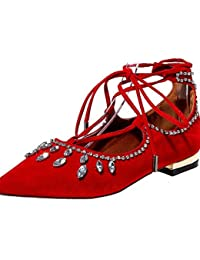 PDX/de zapatos de mujer talón plano Mary/correa de tobillo/punta Toe