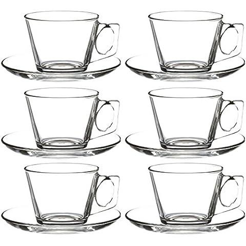 12tlg. Set tazzine da caffè con piattino