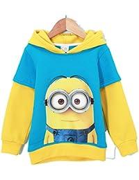 UUstar® Minions Kinder Kapuzenpullover Kollektion 2015 Sweater mit Kapuze Pullover für Mädchen Jungen