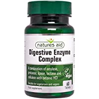 Natures Aid Digestive Enzyme Complex (with Betaine HCI) , 60 tabletas. Suitable for Vegetarians.