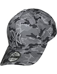 New Era Dad Seasonal Camo NY Yankees Gorra, Hombre, Gris, Talla Única
