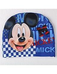 ChenStarUK - Gorro para nadar infantil, diseño de conocidos dibujos animados, Mickey Mouse Blue