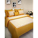 JAIPUR PRINTS 100% Pure Cotton Supreme Quality King Size Double Bedsheet with 2 Pillow Covers