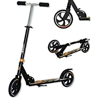 Best Sporting Scooter 200er Rolle EST Sporting-Patinete (200 Unidades, Altura Regulable de 92-96-102 cm), Color Negro y Naranja