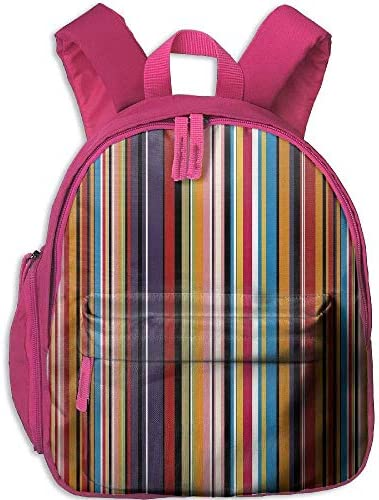 Kids Boys'&Girls' School Backpack   Pocket Abstract Vibrant ColoRouge  Stripes Vertical Pattern Funky Modern Artistic Tile Illustration B07H26CKHK | Supérieure