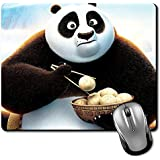 Crazyink Panda Eating Rice Balls Premium Printed Designer Mouse Pad | 22Cm By 18 Cm| Gaming Mouse Pad | Hd Printing | Ultimate Grip | Waterproof Coating | Game Lovers | Perfect For Home & Office | Anti Skid | Slim Light Weight.