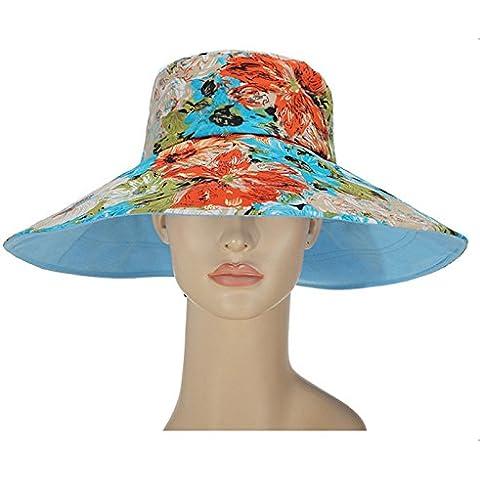 Tapa multifunción exterior playa Hat algodón color sombrero para el sol mujer sombreros ,azul claro