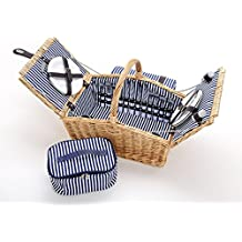 Picknickkorb 2 Personen Weide deluxe Picknickkoffer Picknicktasche Decke NEU