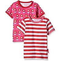Toby Tiger Dot Flower Pack, T-Shirt Bambina, (pacco da 2