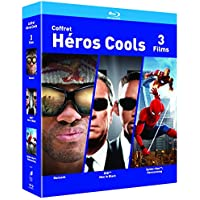 COFFRET SUPER HEROS Blu-ray - Hancock / Spider-man : Homecoming / Men in Black - Exclusif Amazon