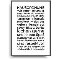 Kunstdruck HAUSORDNUNG 1 Poster Bild Plakat ungerahmt DIN A4
