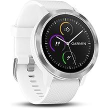 Garmin Vivoactive 3 - Smartwatch con GPS y pulso en la muñeca, Blanco, M/L