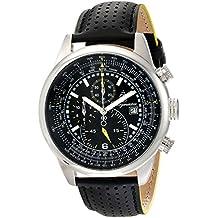 Burgmeister Burgmeister Melbourne - Reloj de Caballero de Cuarzo, Correa de Piel Color Negro (