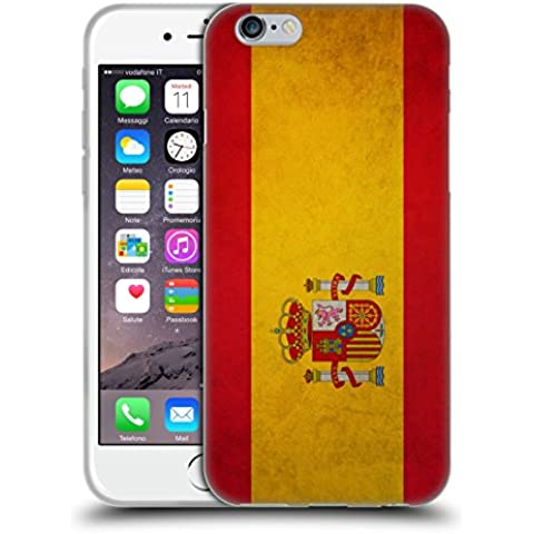 Head Case Designs Español De España Banderas Vintage Caso de Gel Suave para Apple iPhone 6 / 6s