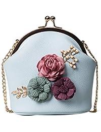 ESAILQ Femmes Mode Sac à bandoulière Épaules Émeraude Fleurs Sac Petit sac  à ... 5c87a910a9fb
