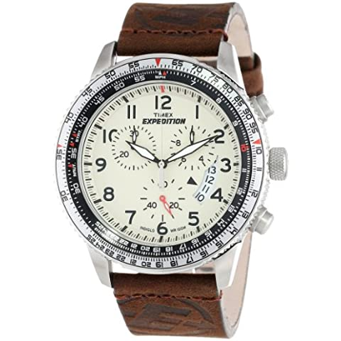 Timex Expedition T49893SU - Orologio uomo - Chronograph Beige Dial