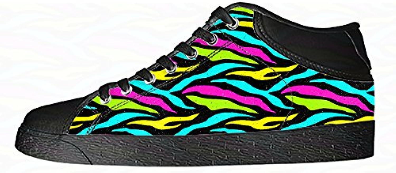 Custom zebra di stampa Wouomo Canvas scarpe I lacci delle scarpe scarpe scarpe da ginnastica Alto tetto | durabilità  | Sig/Sig Ra Scarpa