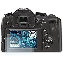 Bruni Película Protectora para Leica V-Lux (Typ 114) Protector Película - 2 x Claro Lámina Protectora de Pantalla