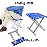 CHHELL Outdoor Portable Folding Chair Camping Hiking Fishing Picnic Stool Chair Seat