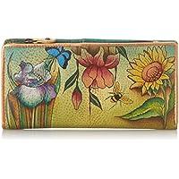 ANUSCHKA dipinto a mano portafoglio in pelle