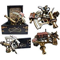 J. Scott London Brass Ship Sextant with Hardwood Box. C-3082 - Carta Nautica