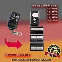 84330eml, 84332eml, 84333eml, 84335EML, Repuesto para emisor manual de mando a distancia, 433.92MHz, Rolling Code