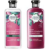 Herbal Essences Bio: Renew White Strawberry and Sweet Mint Shampoo, 400 ml with Herbal Essences Bio: Renew White Strawberry and Sweet Mint Conditioner, 400 ml