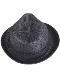 Smile YKK mujeres hombres color puro gorro de paja verano playa sombrero de Fedora sombrero de sol