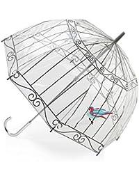 Lulu Guiness by Fulton des femmes Parapluie Dôme Birdcage-2 - Birdcage