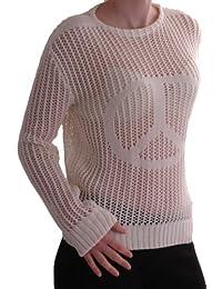 EyeCatch TM - Cerian Damen Netz langarm Pullover gehäckelt, EinheitsGröße