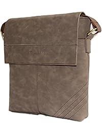 SPHINX Artificial Leather Cross-body Sling Bag For Men/boys - Camel Brown (L X B X H: 25 X 22 X 7 Cm)