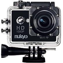 Nukyo Cámara de Deportes de Acción Extrema - 1080p WIFI 12MP Negra + Accesorios