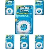 6x Menthe Ciré Oral-B Essential floss fil dentaire Menthe 50m (Lot de 6)