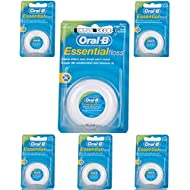 Oral-B Essential Waxed Mint Floss, 50 m, Pack of 6