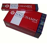 Räucherstäbchen Golden Nag Champa 180g 12 Schachteln zu je 15g Großpackung preisvergleich bei billige-tabletten.eu