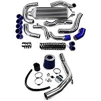 supeedmotor Front Mount Kit Intercooler e filtro aria a induzione Kit per Audi A3VW Golf 1.8T