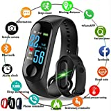 HKGMALL M3 Bluetooth Fitness Smart Health Band/Smart Fitness Band Compatible for All Device